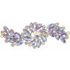 Crystal Motifs Fancy Swirl 10.5x4cm Amethyst Aurora Borealis/gold